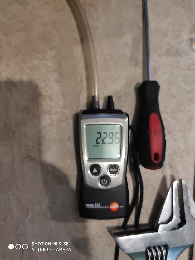 Замер показателей газового котла
